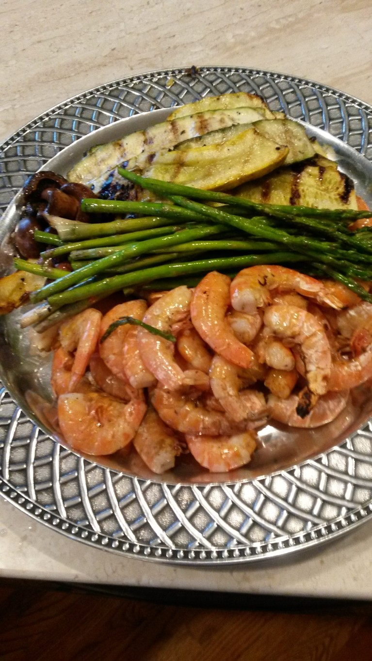 Grilled Shrimp and Summer Vegetables